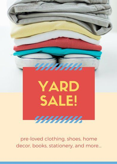 Image result for product cover design My TpT Misc Pinterest - yard sale flyer template
