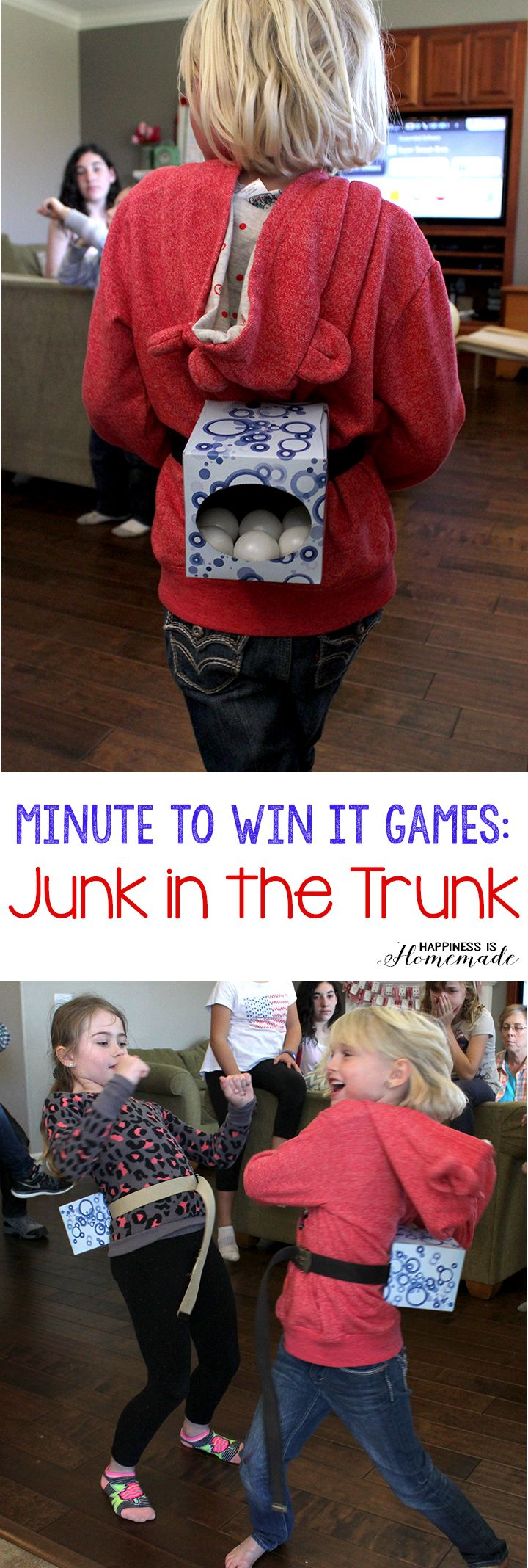 Minute to Win It Games - Junk in the Trunk #games