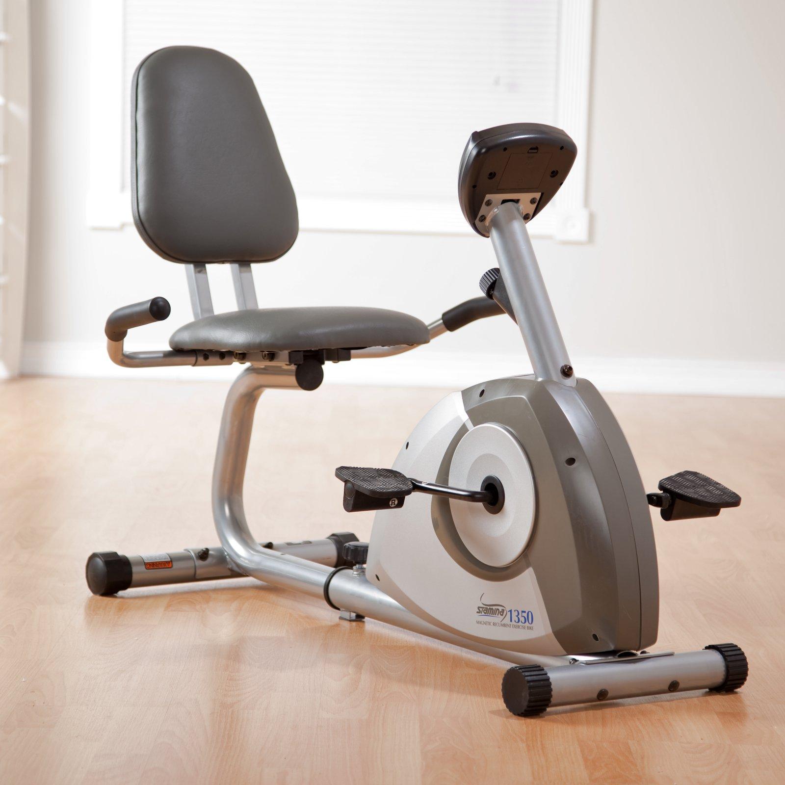 Stamina 1350 Magnetic Recumbent Exercise Bike Recumbent Bike Workout Exercise Bikes Biking Workout
