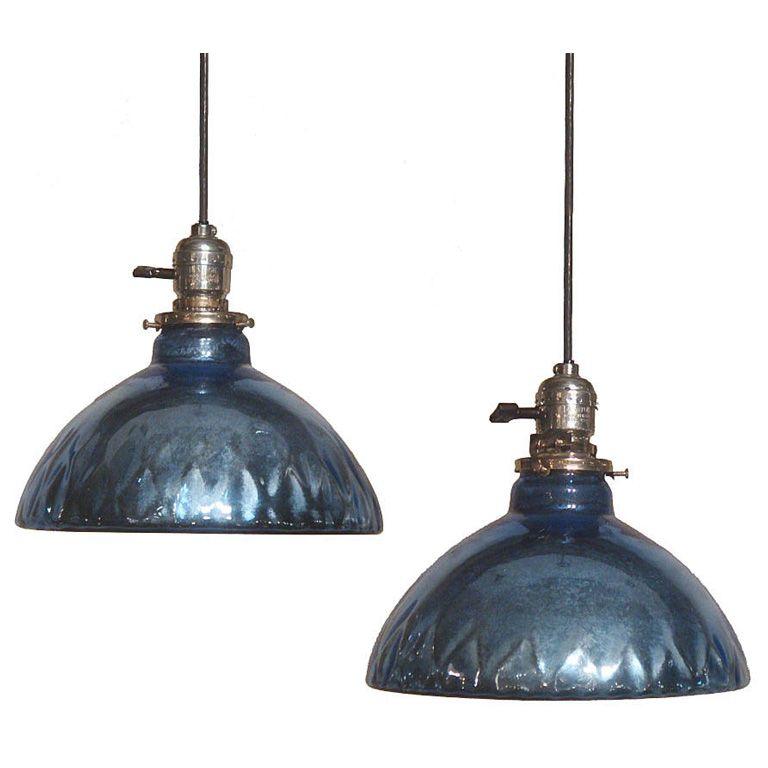 Blue Mercury Glass Pendant Lights | Mercury glass, Glass ...