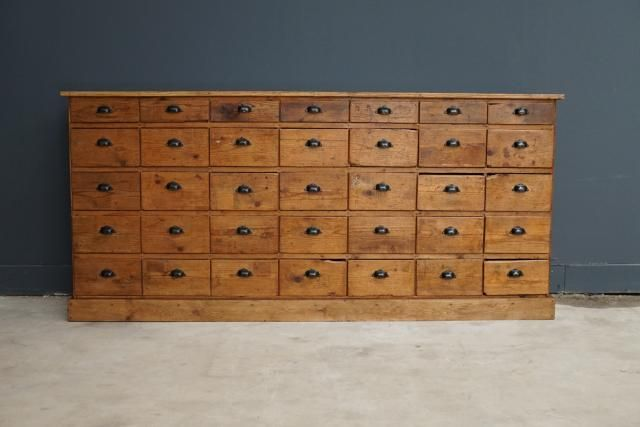French Large Pine Apothecary Cabinet, 1950s For Sale At Pamono