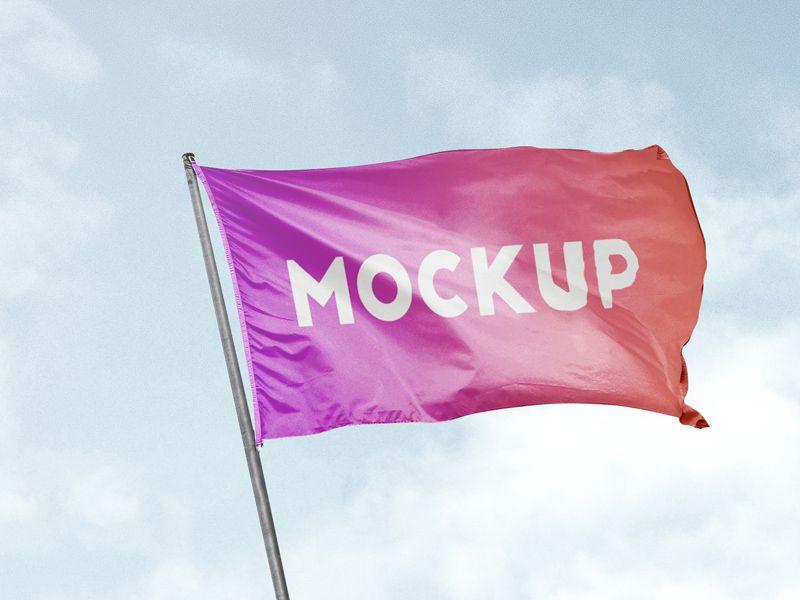 Free Flag Mockup Mockup Design Mockup Mockup Free Psd Download