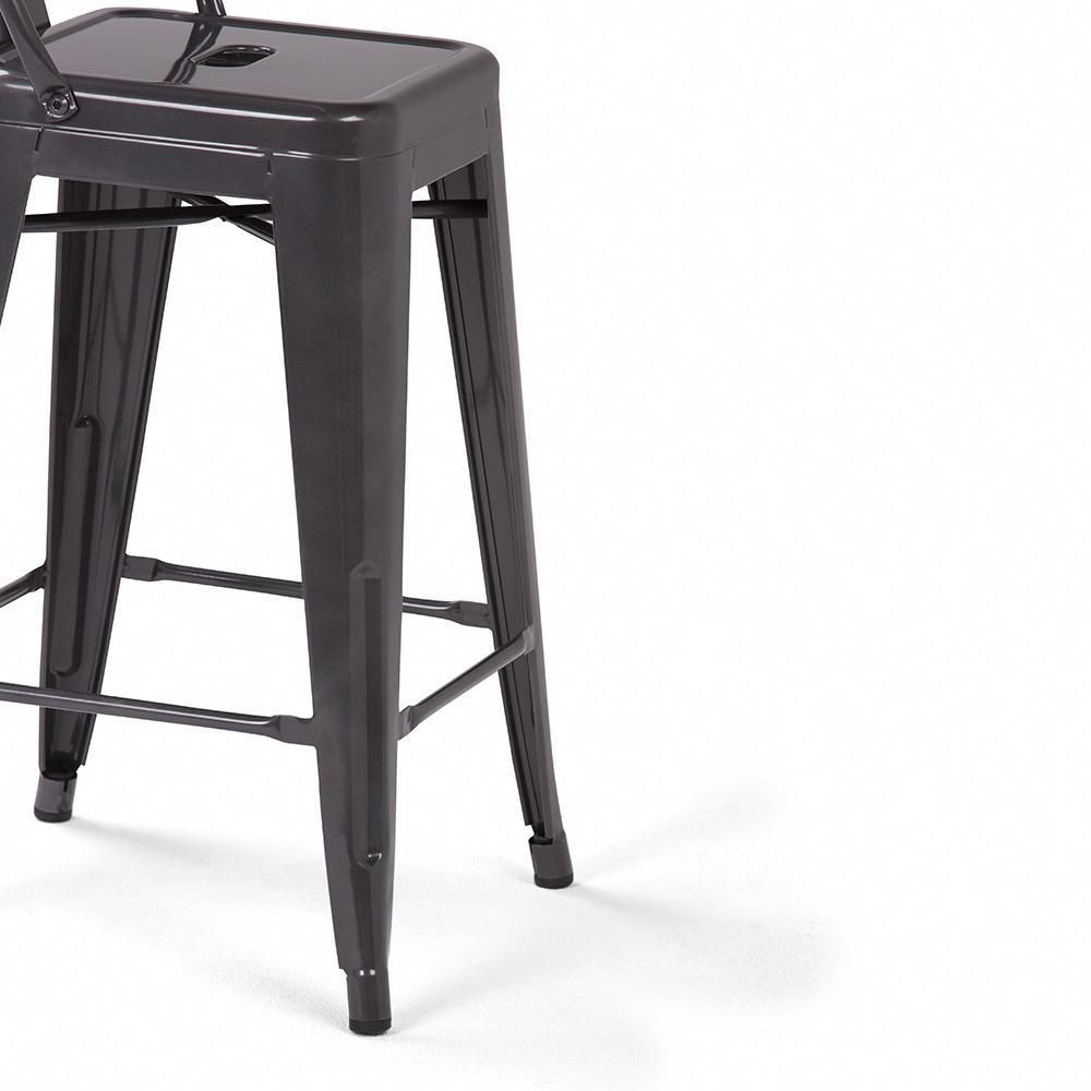 Rayne 24 Inch Metal Counter Height Stool Set Of 2 In 2020 Counter Height Stools Metal Counter Stools High Top Tables