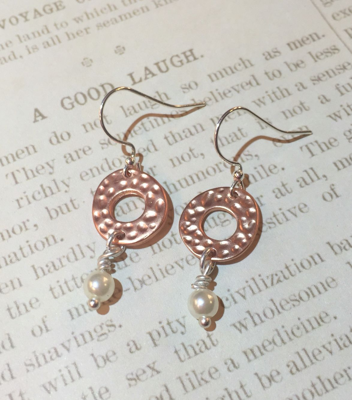 Mixed media earrings