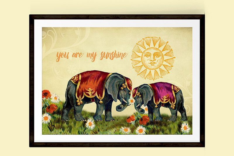 Valentines Gift, Mothers Day Gift, Elephant Poster, You Are My ...