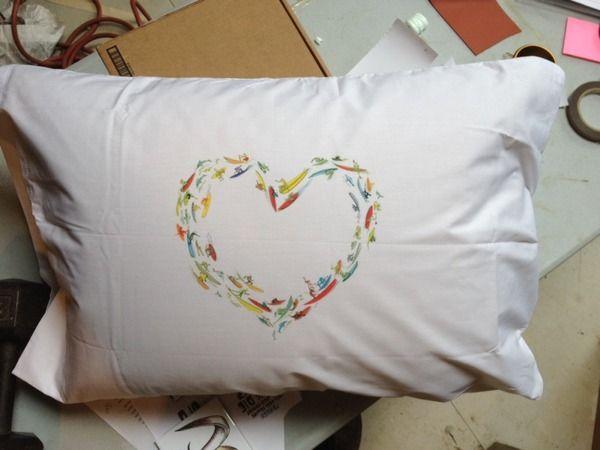 Surf Heart Pillowcase