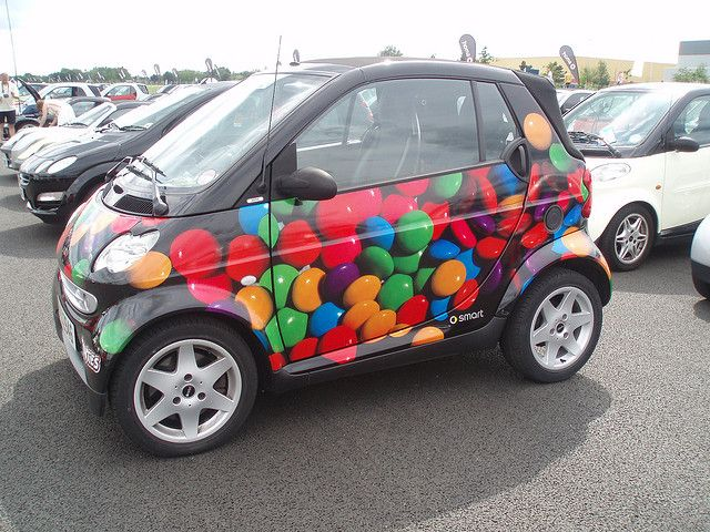 smart fortwo at Brooklands - smarties
