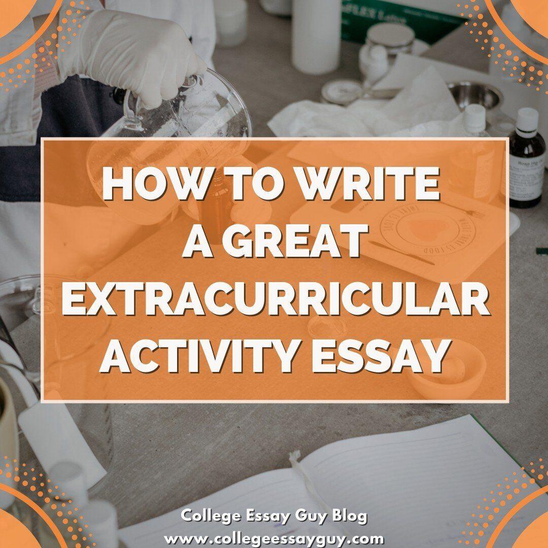 Extracurricular activity essay