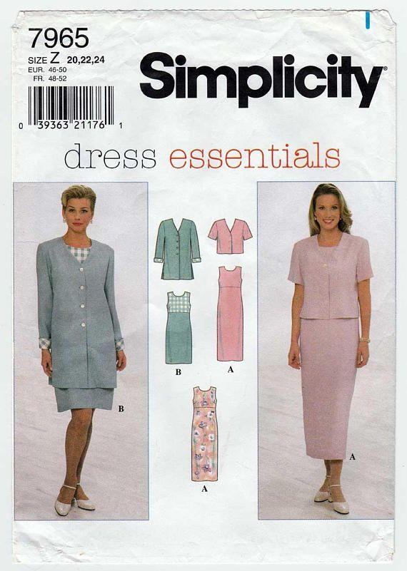 Womens Sleeveless Dress And Unlined Jacket Sewing Pattern Plus