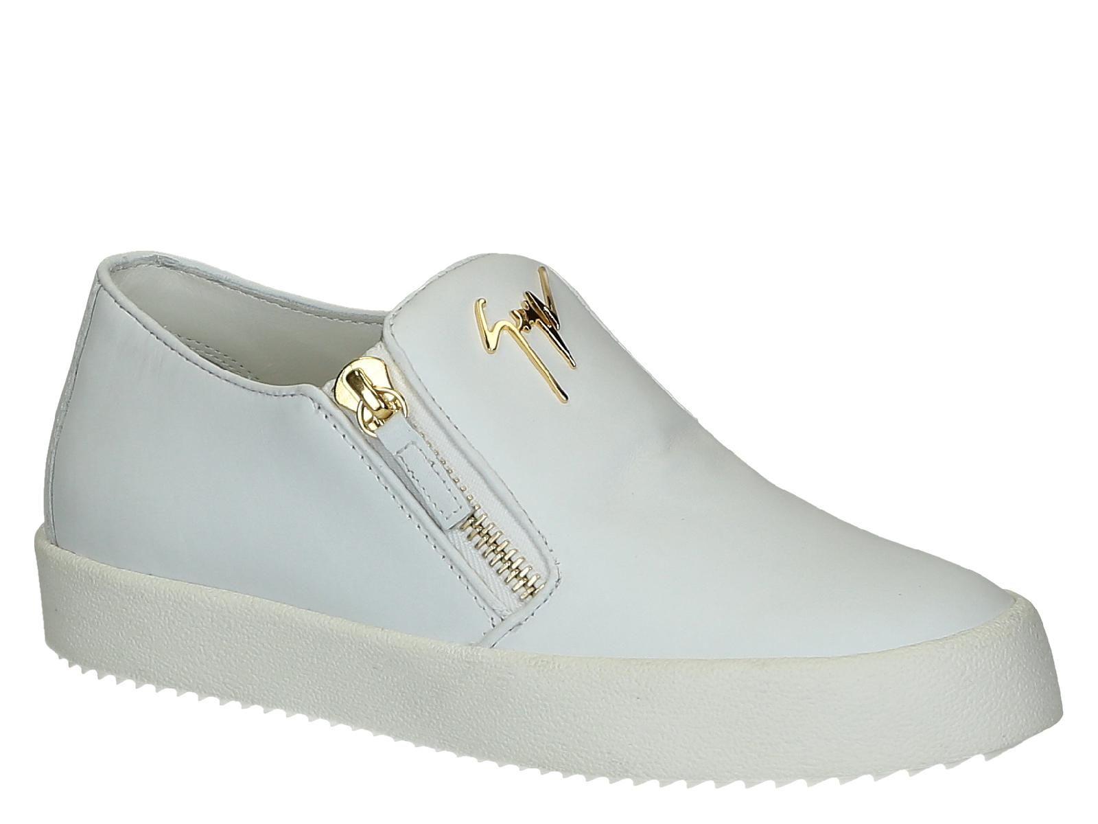 Giuseppe Zanotti flat sneakers in white