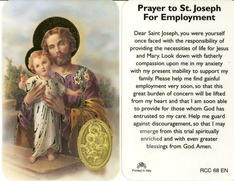 Novena prayer to find a job