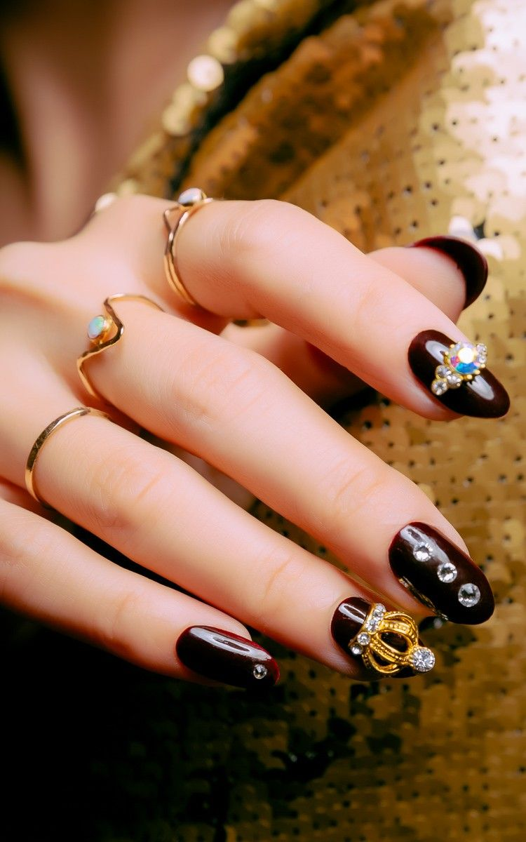 Glam Rock Nails Make Up Pinterest Rock Nails Rock And Jewel Nails