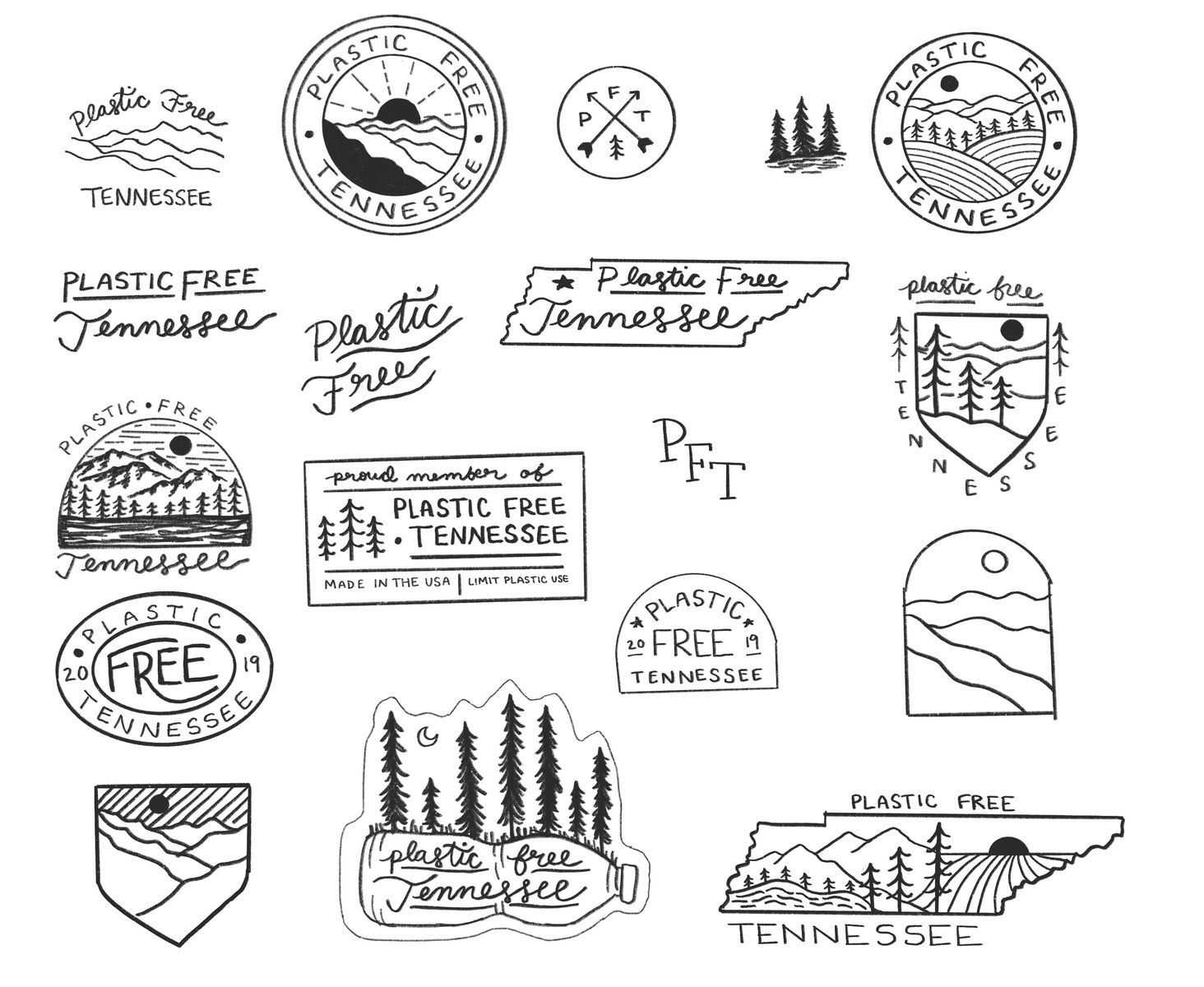Hand drawn Logo & Branding Rough Sketches Hand drawn