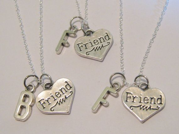3 Initial Heart Best Friend Necklaces Bff Montana Stump These Are The Ones