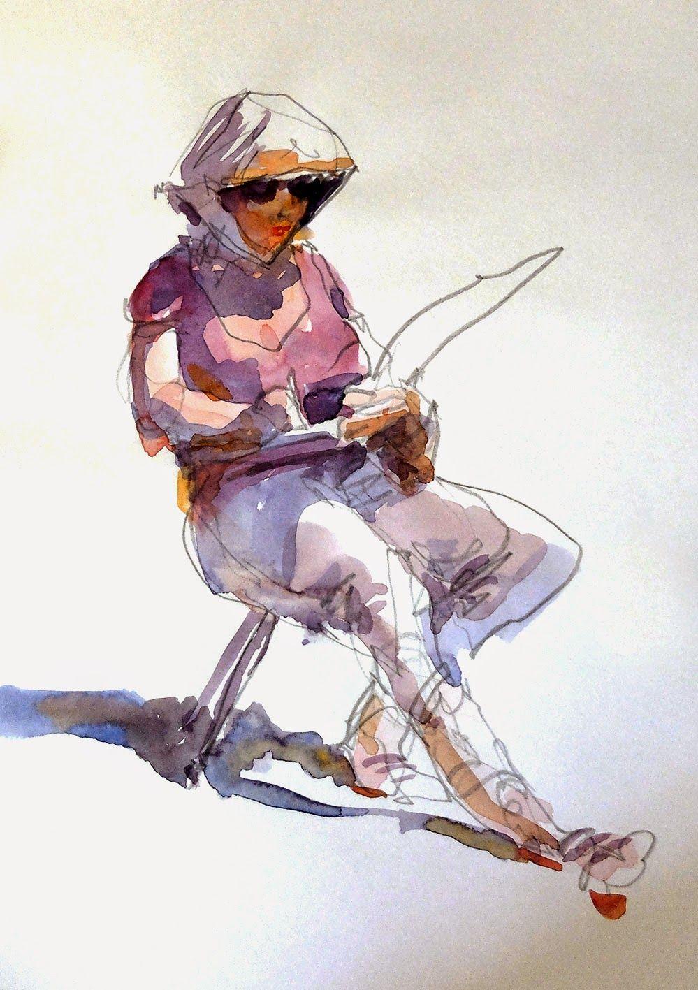 Rentree Aquarelle En 2020 Aquarelle Peinture Dessin
