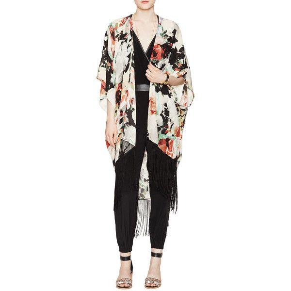 Charlie Jade Fringed Kimono Jacket ($89) ❤ liked on Polyvore