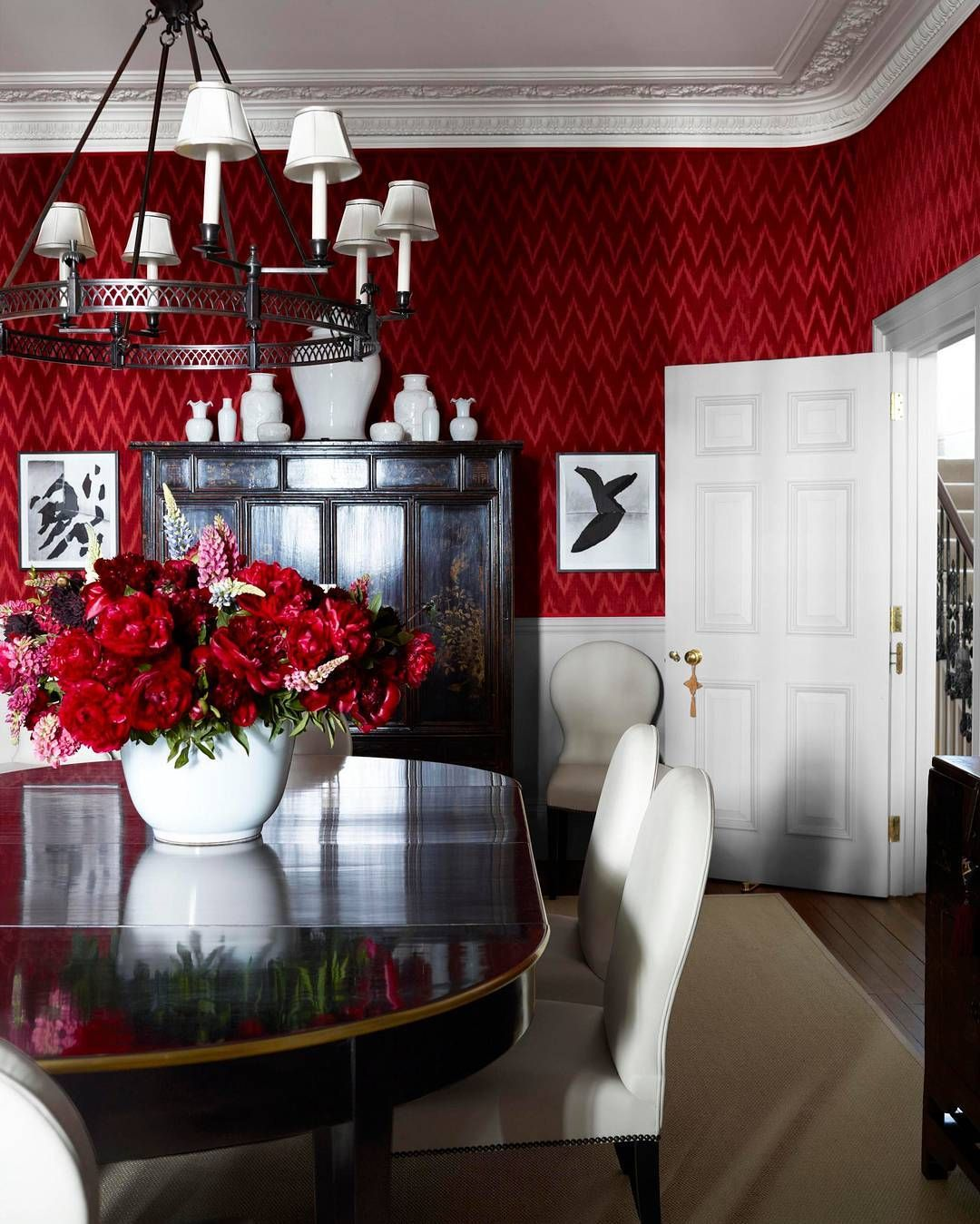 Thereu0027s No Better Place To Go Bold Than The Dining Room. ❤ (: