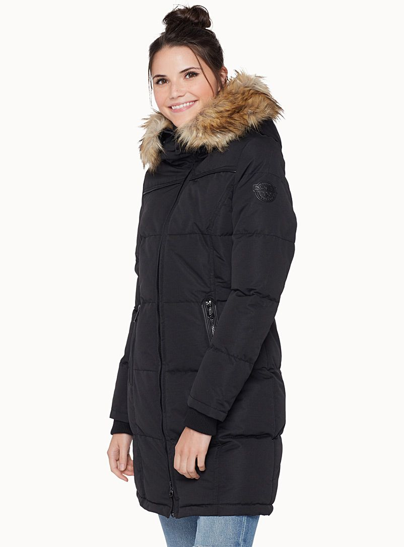 this brand is vegan!! vegan coat Noize at Twik Long, quilted