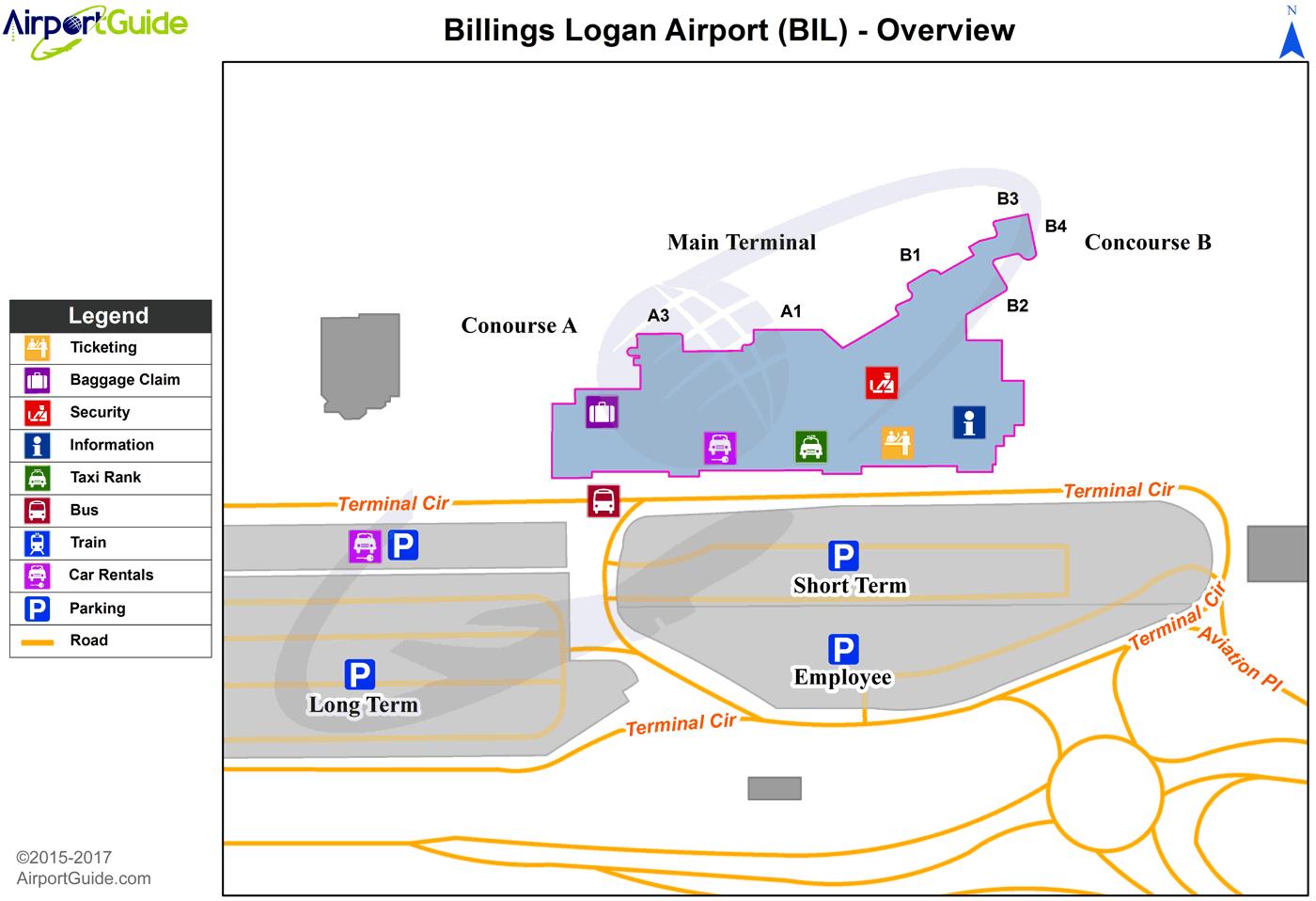 Billings - Billings Logan International (BIL) Airport ...