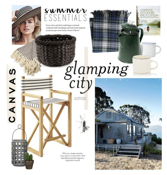 """Glamping City"" by barngirl ❤ liked on Polyvore featuring interior, interiors, interior design, home, home decor, interior decorating, L.L.Bean, Napa Home & Garden, Serena & Lily and Bloomingville"