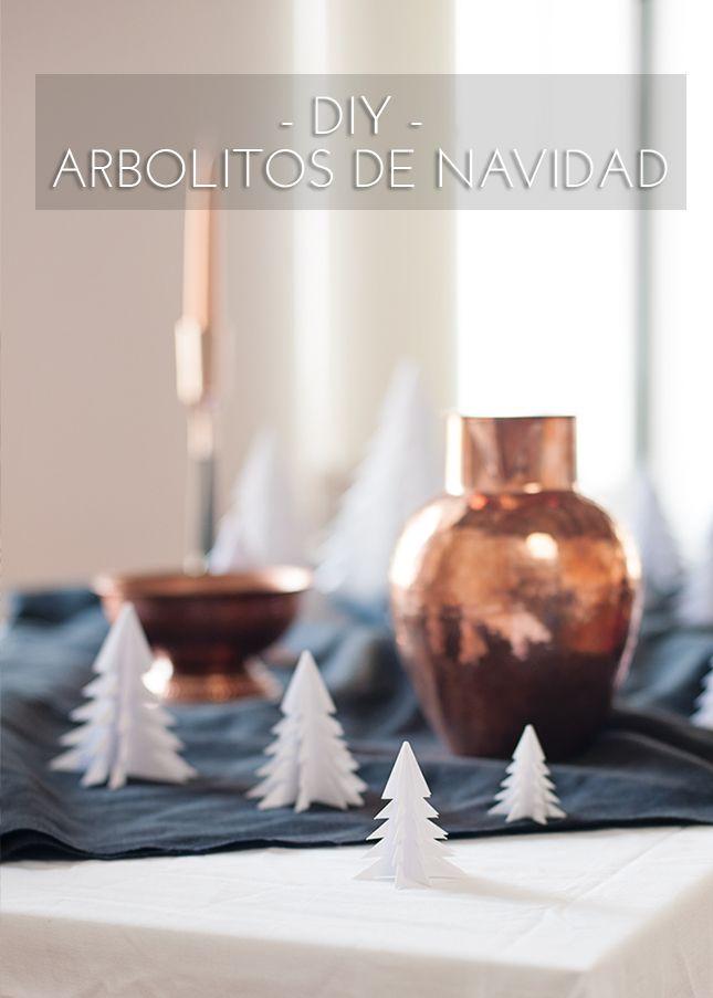 #DIY Last minute!  Arbolitos de #Navidad de papel #handmade #deco #FelizNavidad