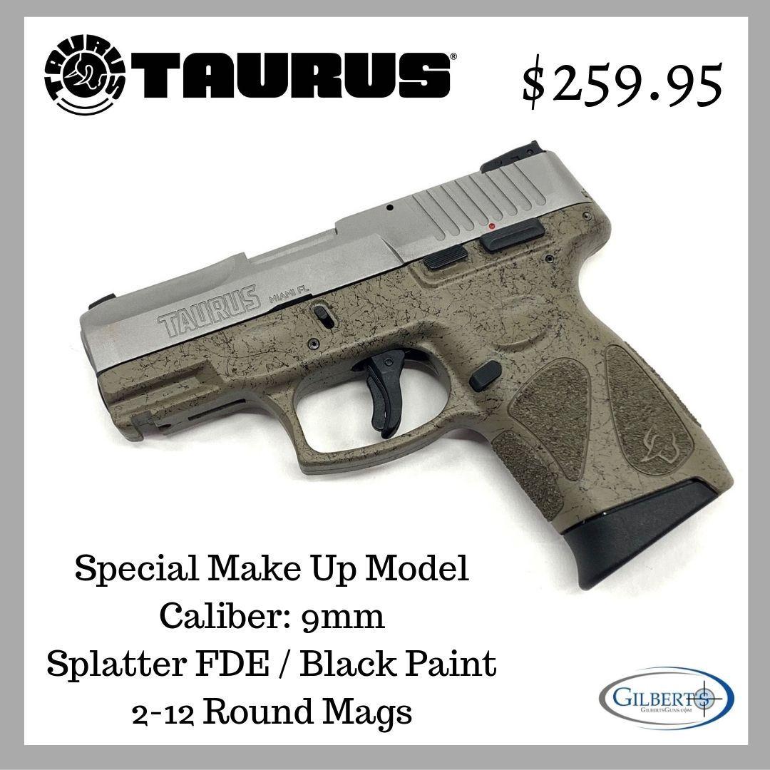 Taurus GC2 Stainless 9mm Pistol With Splatter FDE / Black Paint 1