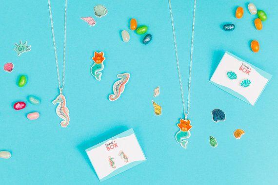 Purrmaid brooch mermaid jewellery mermaid badge by InnaboxDesign