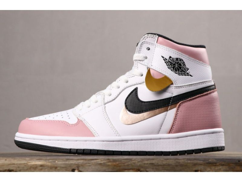 Wmns Air Jordan 1 Retro High Og Aj1 Pink White 555441-889 For #airjordan1outfitwomen