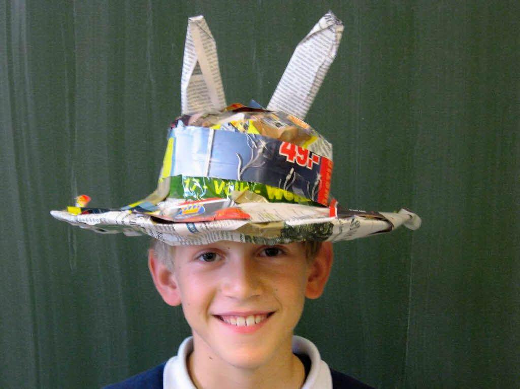 Hüte aus Zeitung basteln | Zeitungsprojekt Grundschule | Pinterest ...