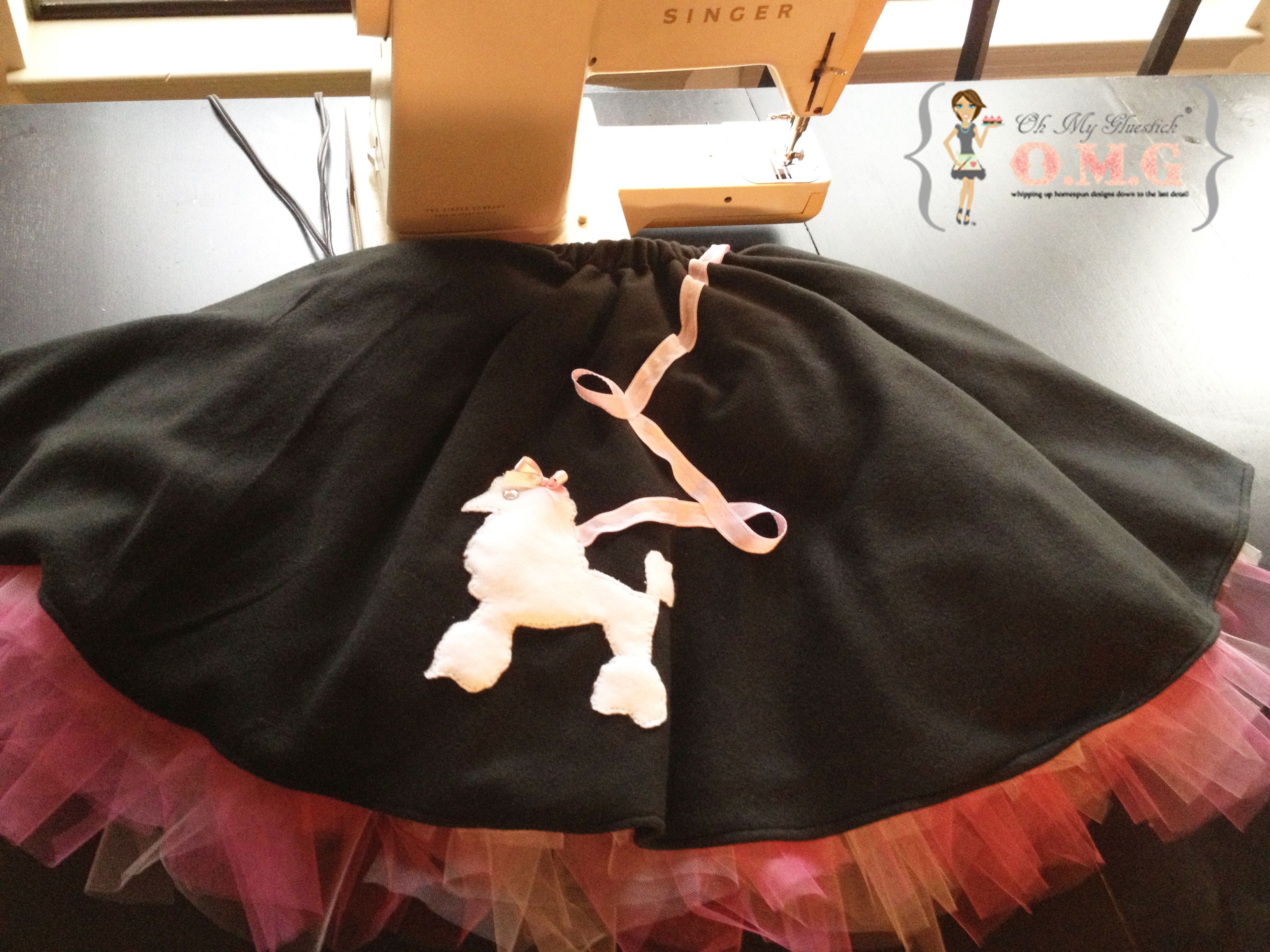 Quick Easy Poodle Skirt Insead Of Use Coke Bottle