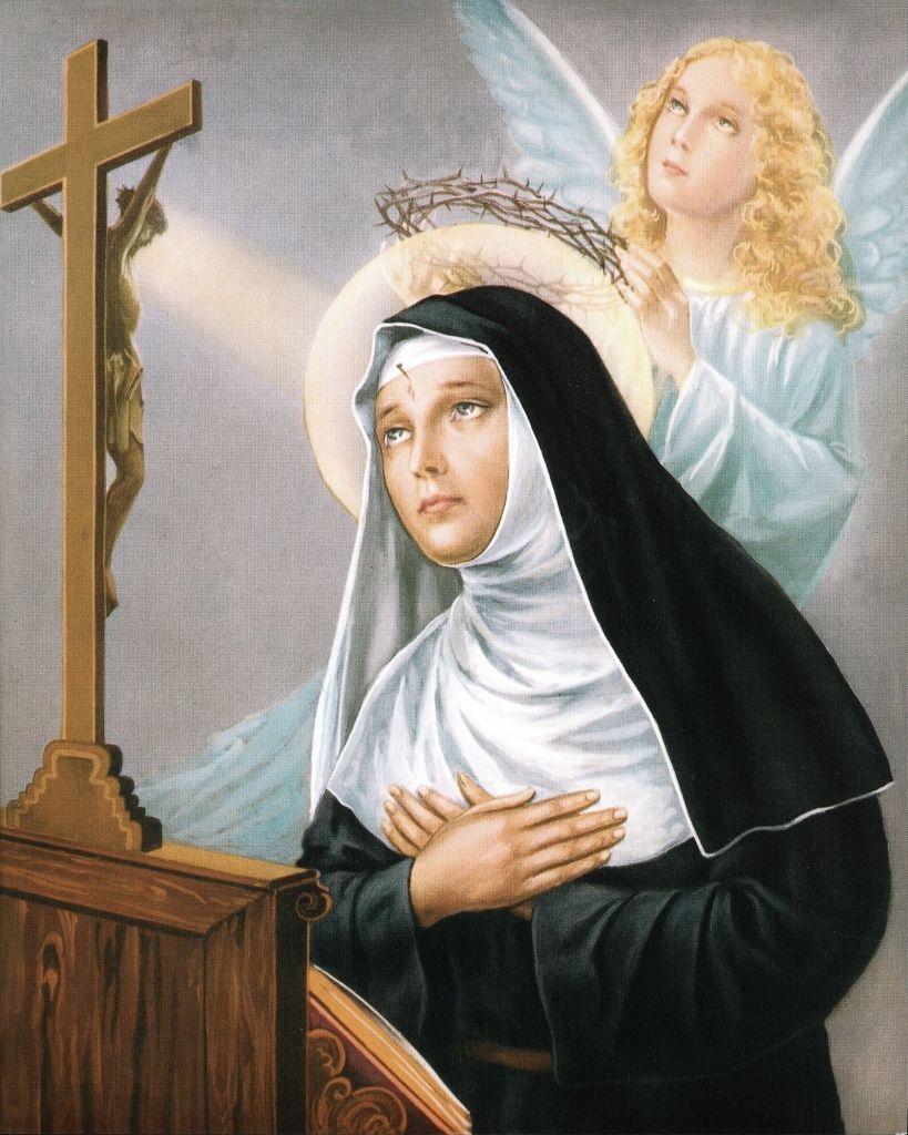 "8"" x 10"" Catholic Print Picture St Rita of Cascia Printed in Italy"
