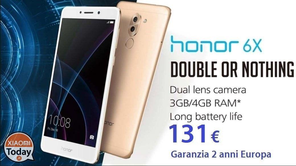 Offerta - Huawei Honor 6X 3/32Gb Silver a 131€ garanzia 2 anni ...