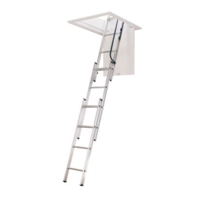 Abru Blue Seal 3 Section Easy Stow Loft Ladder H 139 X W 30 5cm In 2020 Attic Ladder Attic Stairs Attic Rooms