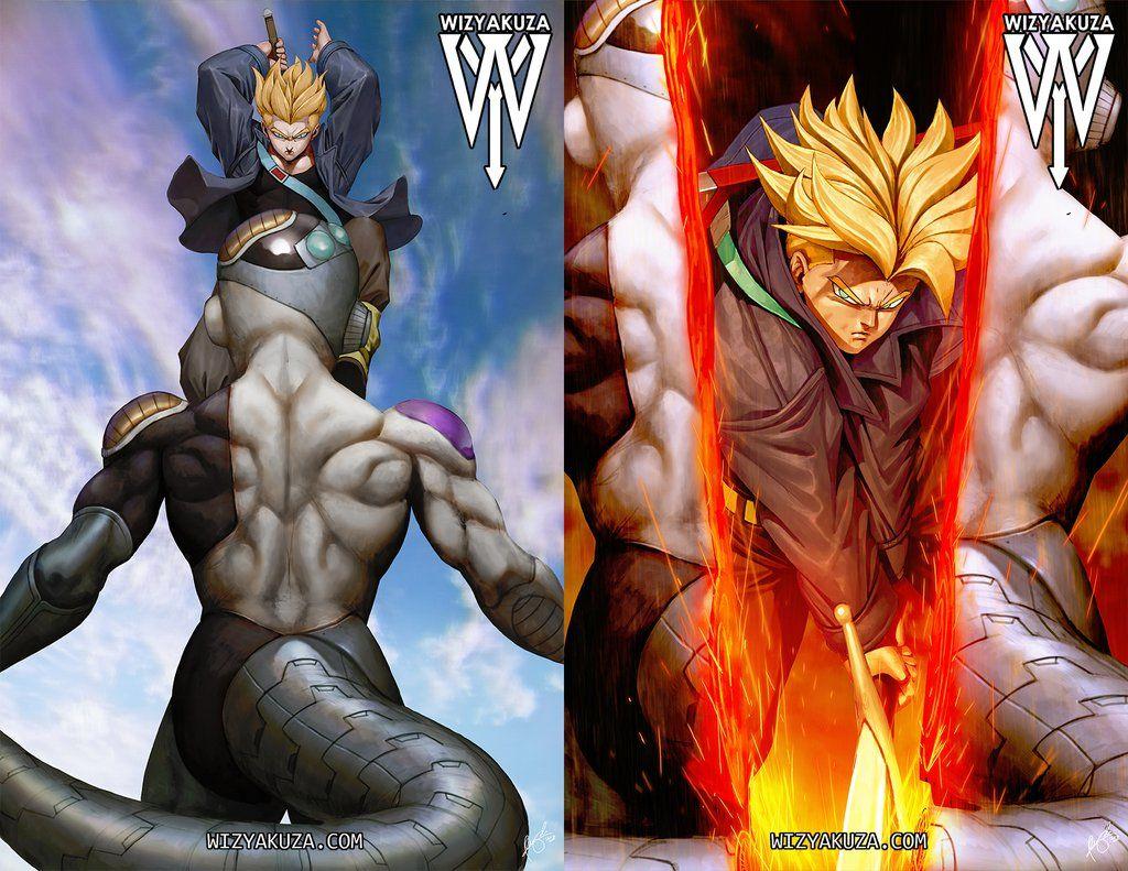 3d Transition Heroic Split Lenticular Print Dragon Ball Artwork Dragon Ball Art Anime Dragon Ball Super