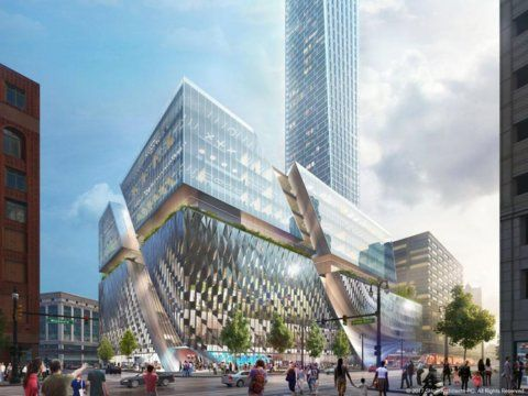 Detroit is building a $1 billion city within a city on the site of a dead department store