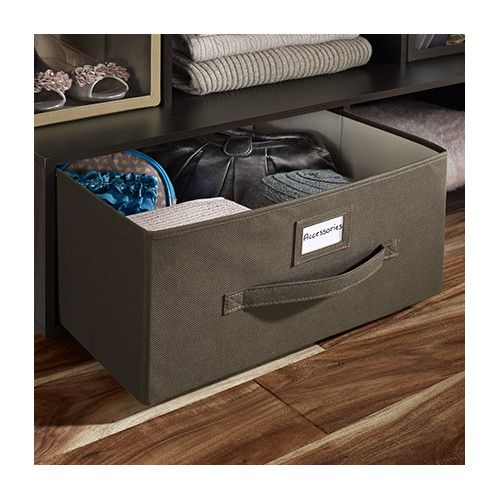 Found It At Wayfair Large Fabric Drawer With Write On Label Affordable And Good Size Not Available In Gray Fabric Drawers Fabric Bins Storage
