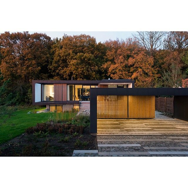 """""""Located in Denmark, Villa R sits on the edge of a forest, pushed back as close to the trees as possible so it felt like the trees were growing right…"""""""