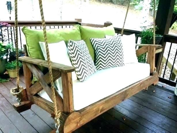 Awesome Bed Swing Cushions Photos Unique For Porch Daybed Beds Outdoor Round Hanging