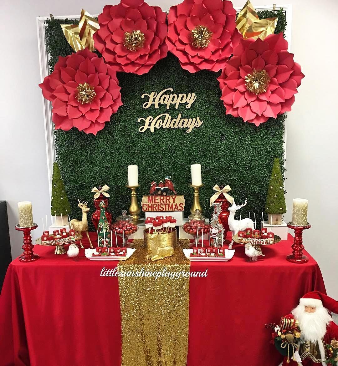 Pin de mely aragon en xmas party - Decoracion fiesta navidad ...