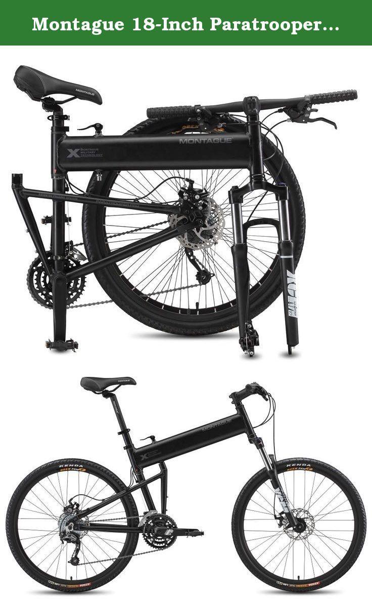4536c57a3f3 Montague 18-Inch Paratrooper Pro Folding Bike, Matte Black. The Paratrooper  is one
