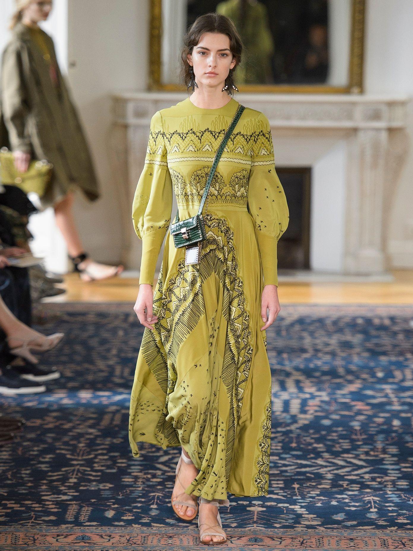 Swallow metamorphosisprint silk dress valentino matchesfashion