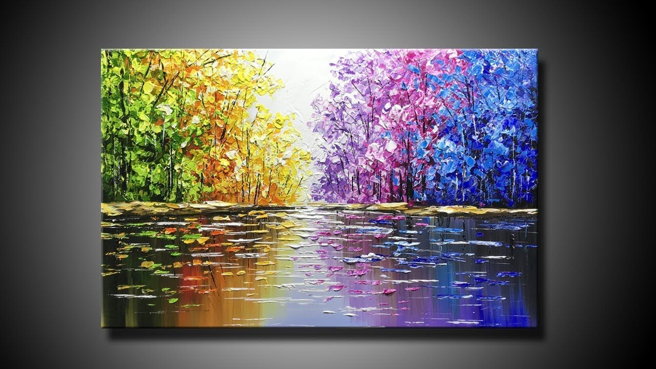 Easy Abstract Oil Palette Knife Landscape Painting Ideas