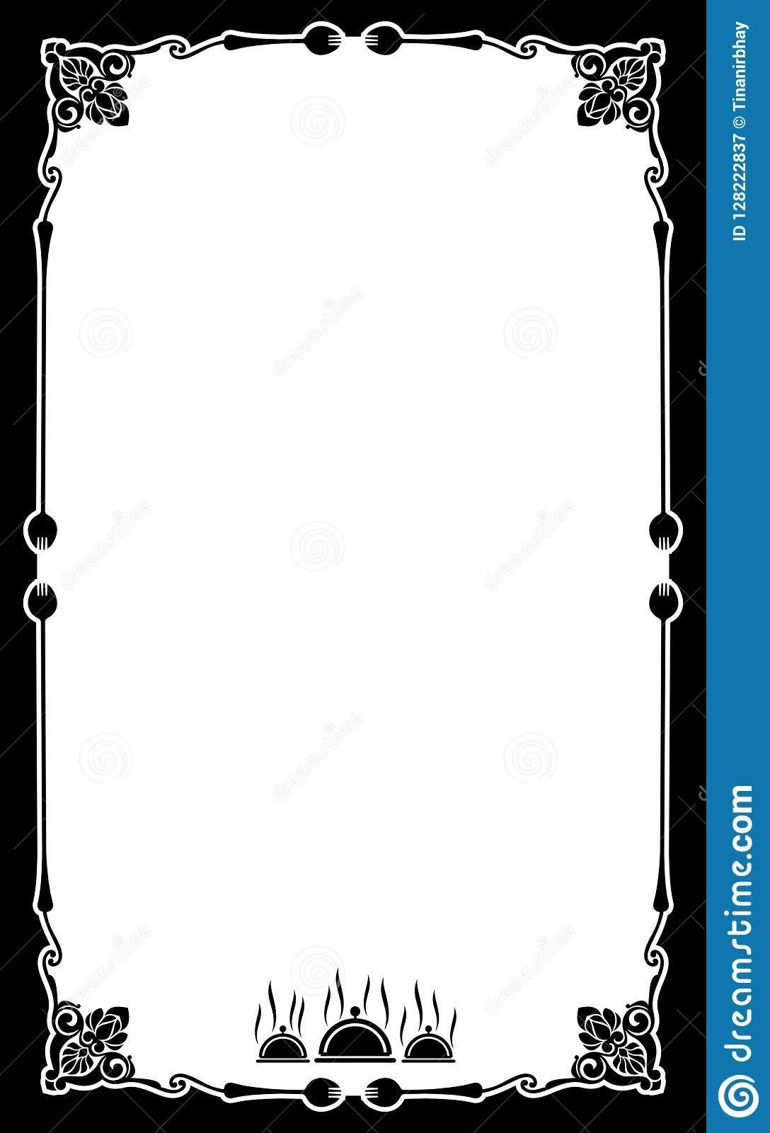 Round Menu Cards Templates Lovely Restaurant Menu Card Frame Template Stock Vector Menu Card Template Menu Template Restaurant Menu Card