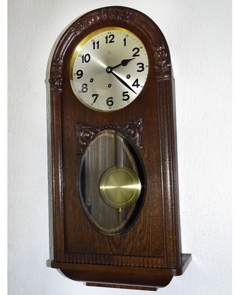Alte Antike Wanduhr Pfeilkreuz Junghans Westminster Um 1900 Antiquitäten Kunst Mobiliar Interieur Uhren Ebay