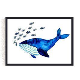 Print *Blauwal*, mein Lieblingsaqarell für das