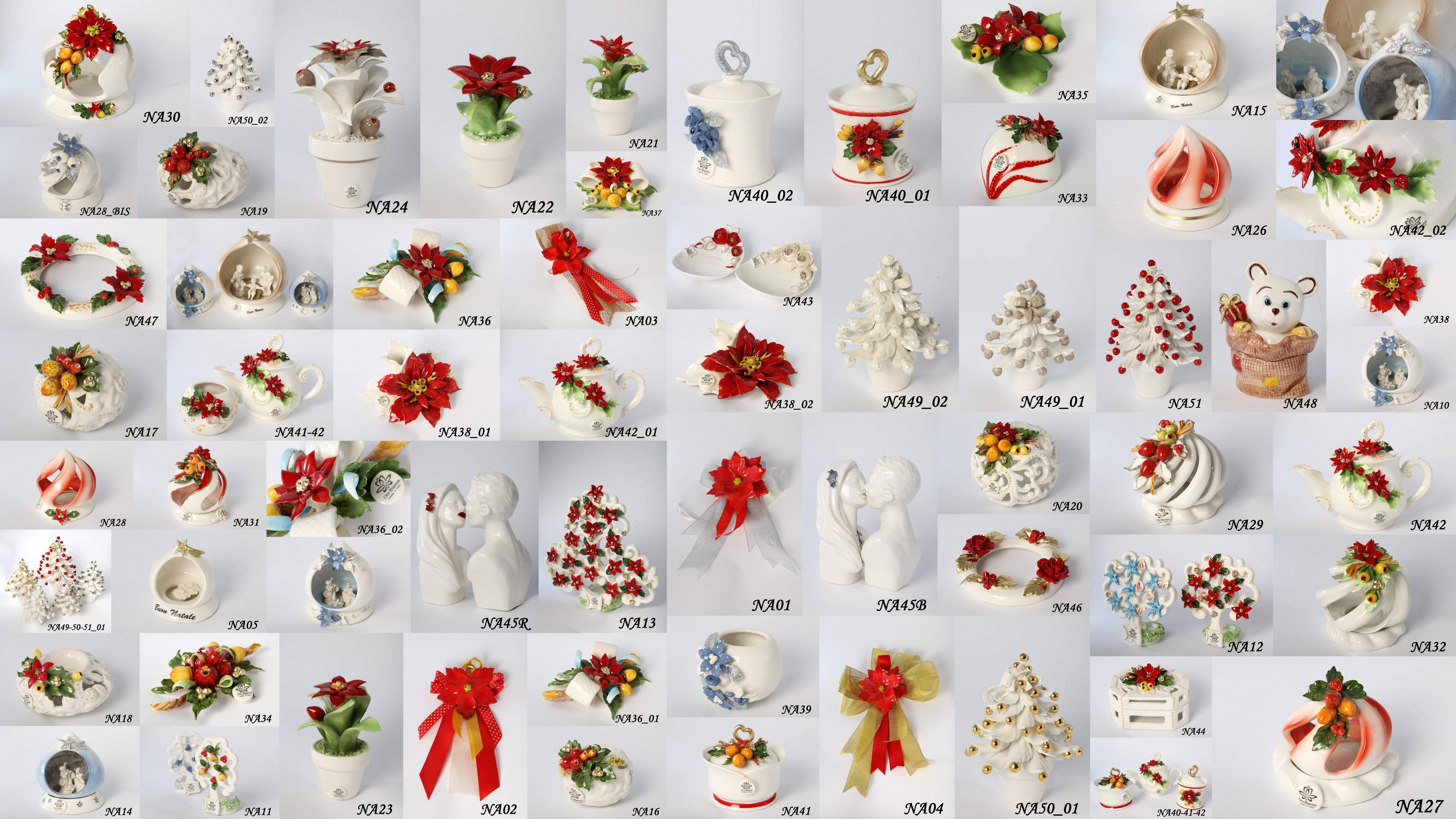 Acquisto Decorazioni Natalizie.Oggettistica Decorativa Natalizia Oggettistica Ed Articoli Da Regalo In Porcellana Di Capodimonte Decorazio Decorazioni Natalizie Decorazioni Regali Di Natale