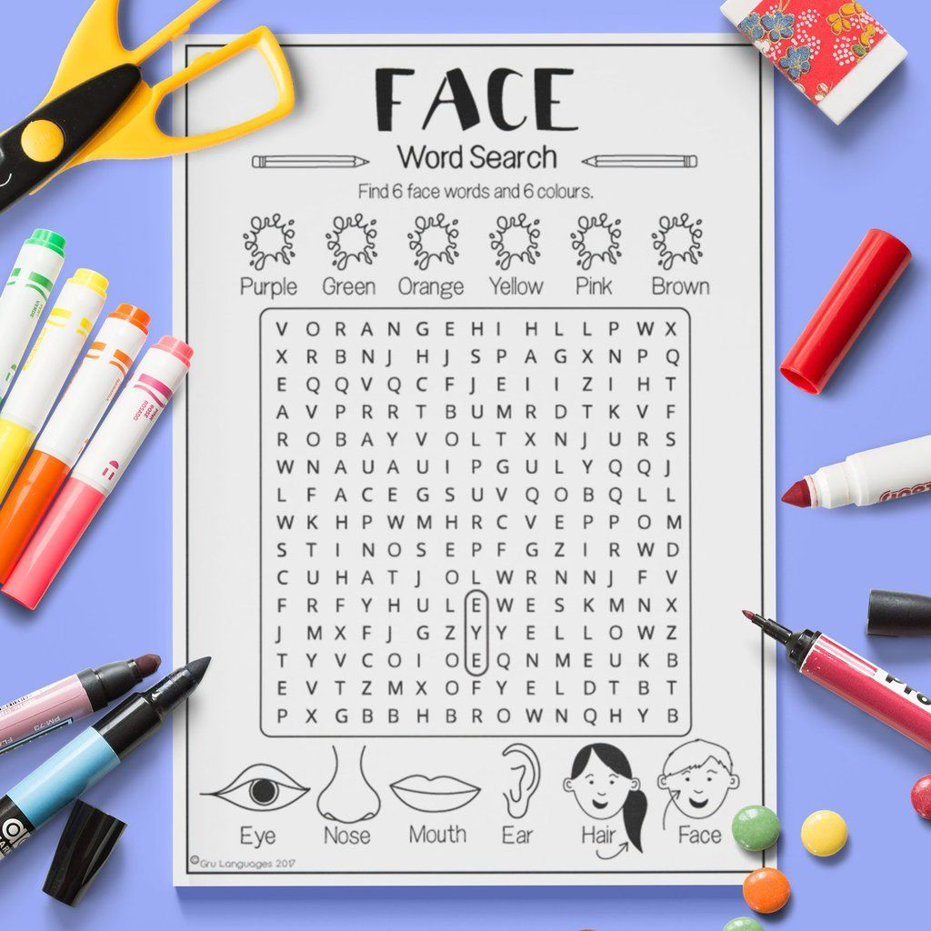 Face Word Search