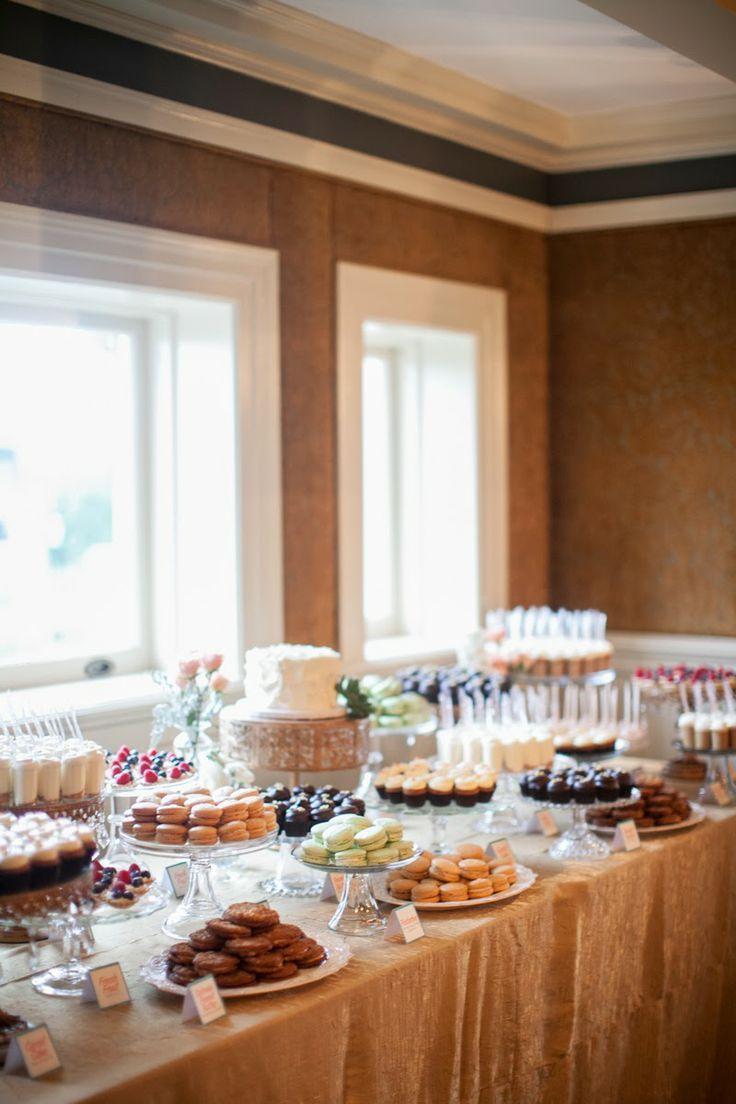 Cocoa & Fig Wedding Dessert Table - Mini Desserts, Wedding, Semple ...