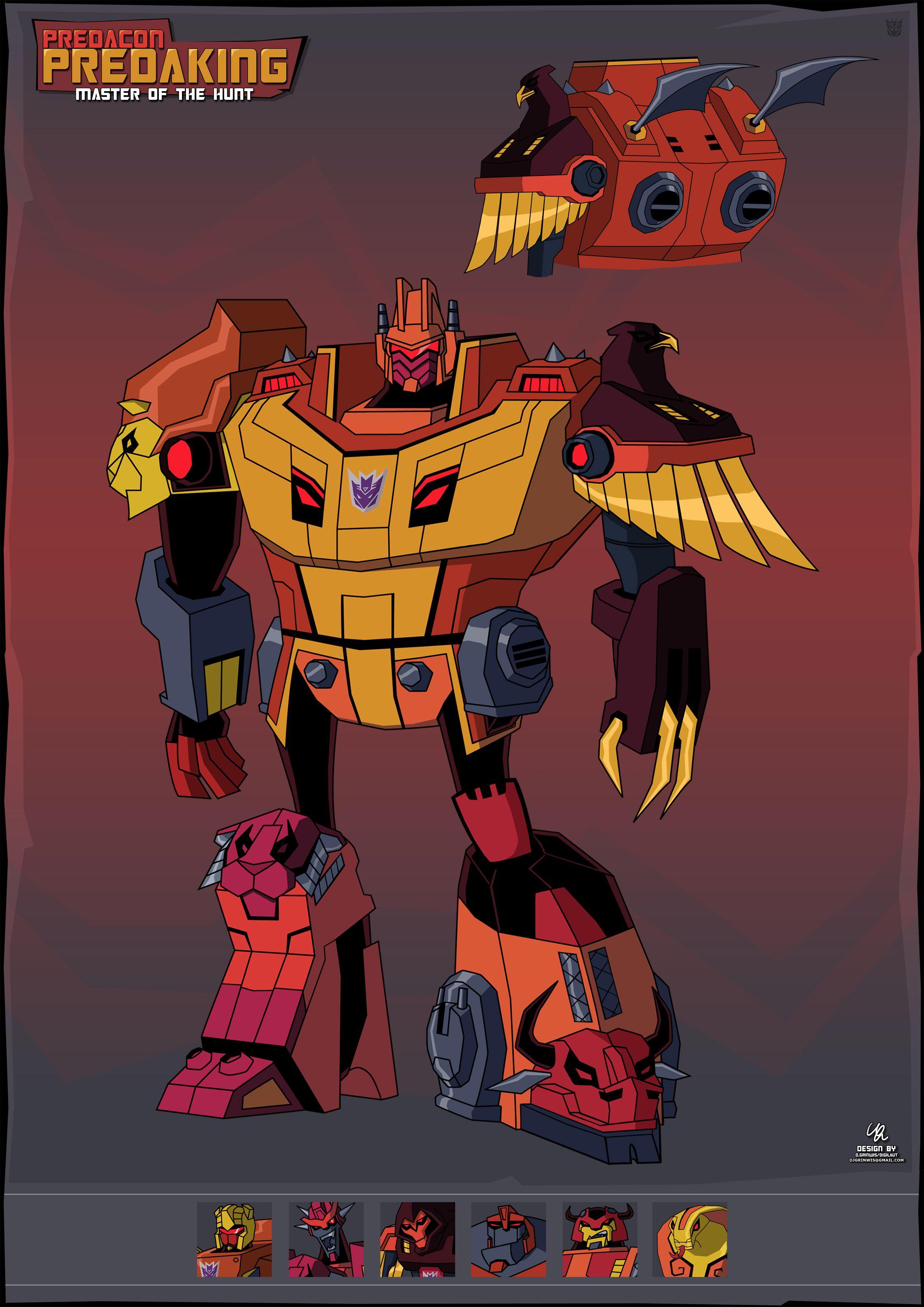 Transformers Animated Predacons / PREDAKING - TFW2005.com