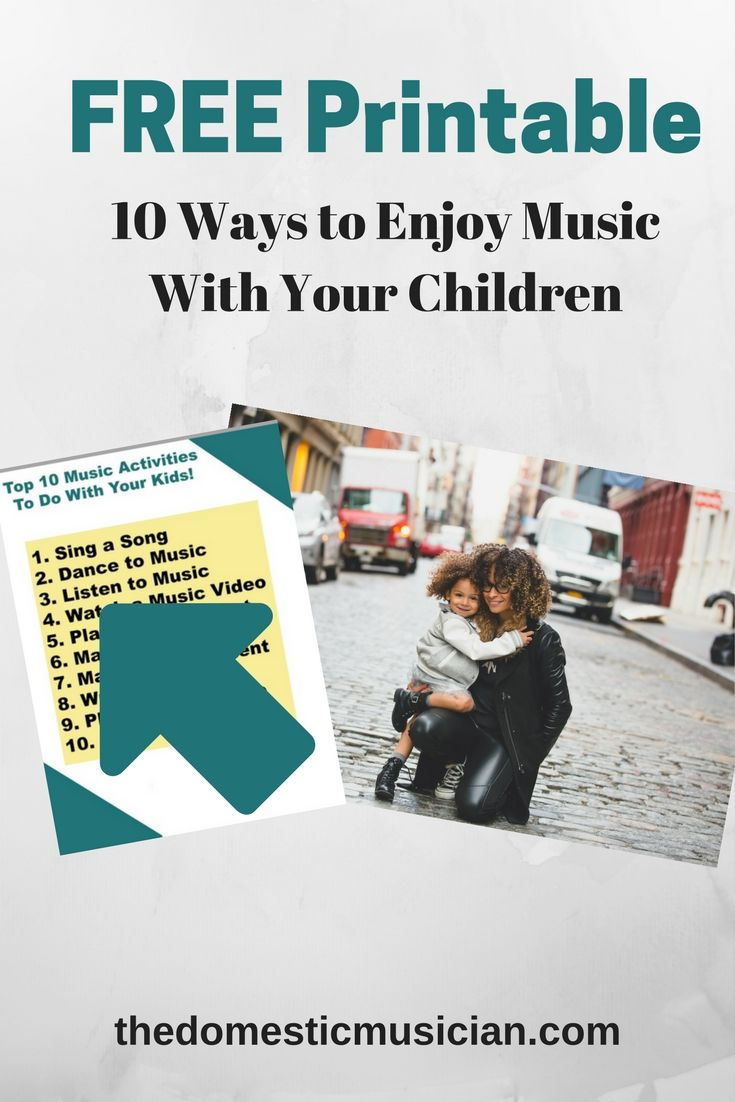 How to enjoy music FREE printable! Enjoy experiencing music at home ...